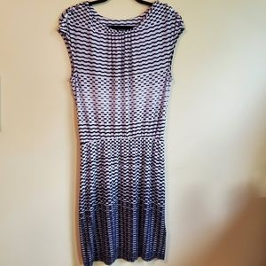 GUESS los angeles black and white dress si…
